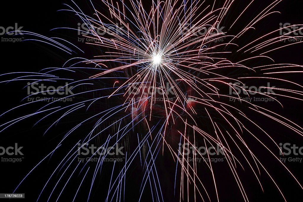 Solvang fireworks #9 royalty-free stock photo