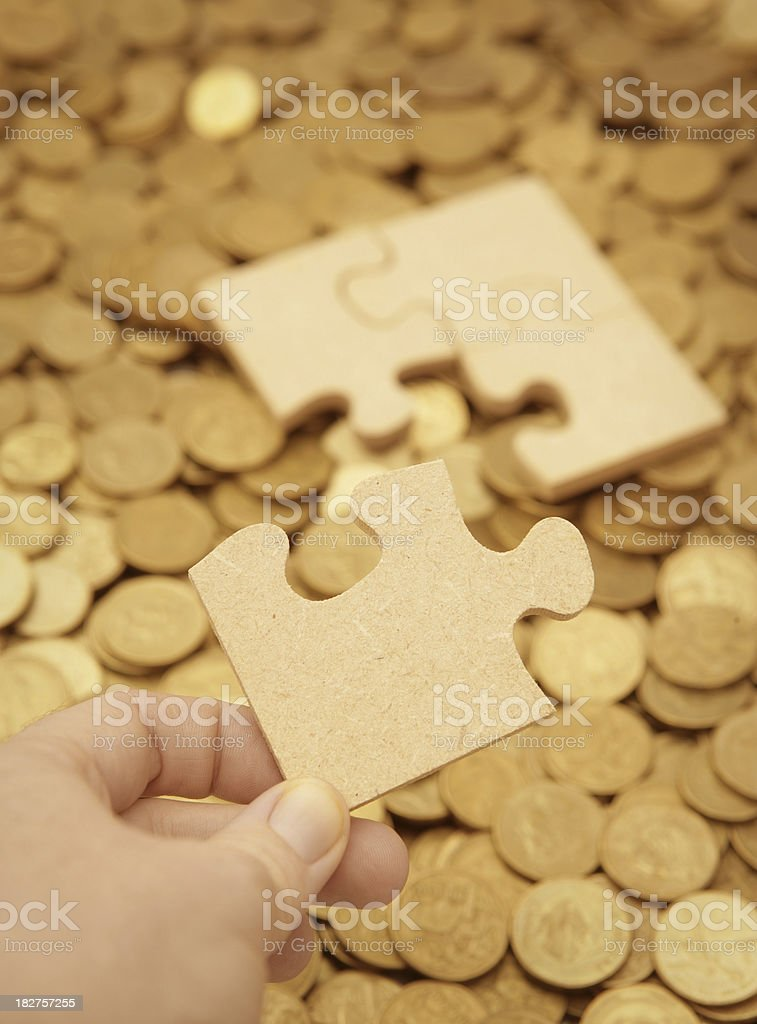 Solve the Financial Puzzle royalty-free stock photo