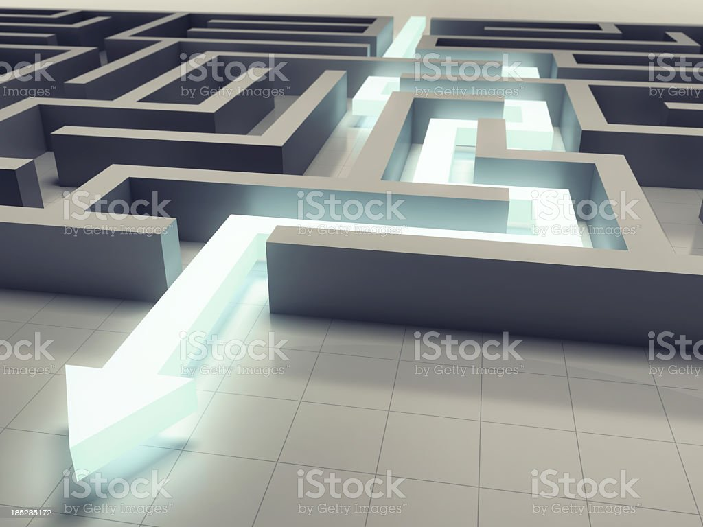 Solving a Maze royalty-free stock photo
