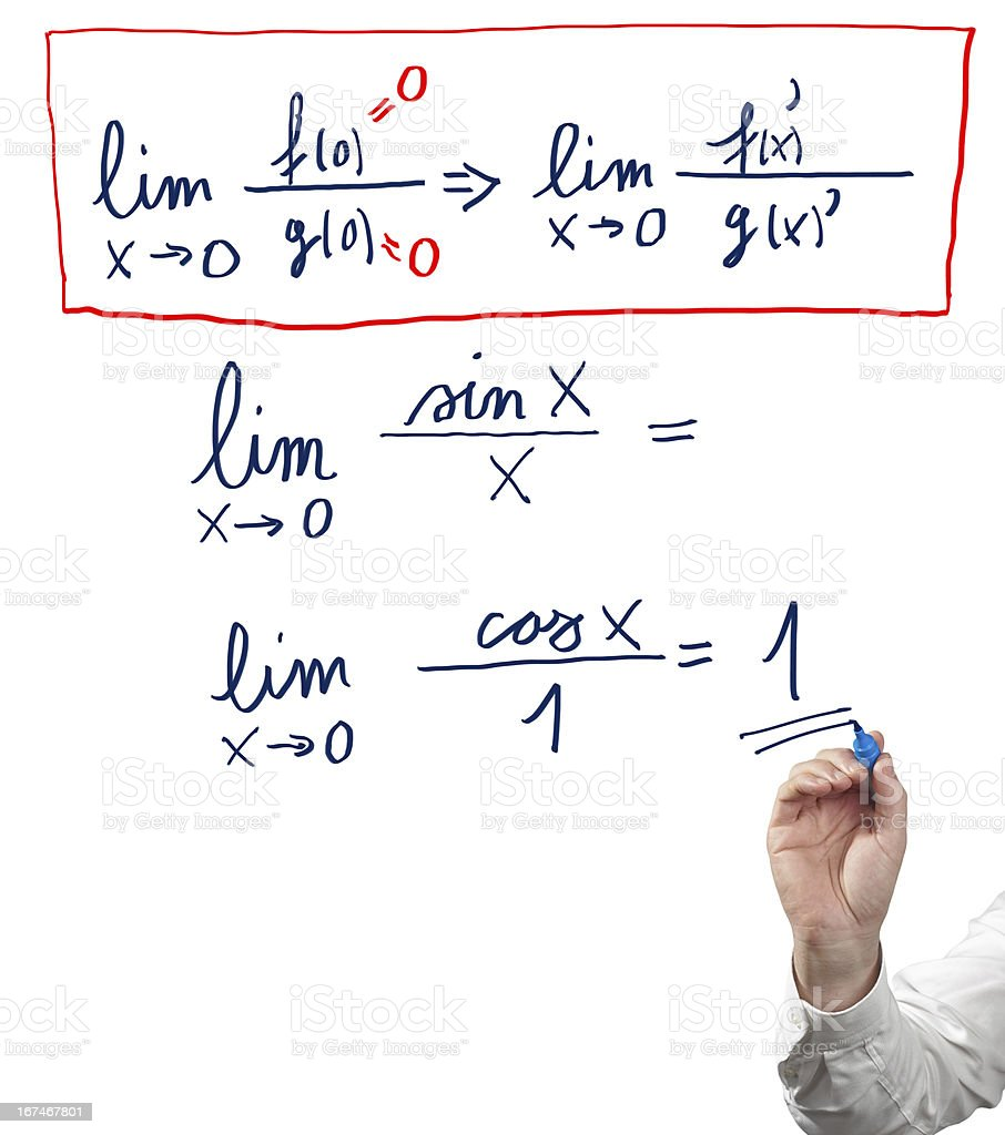Solving limit equation. royalty-free stock photo