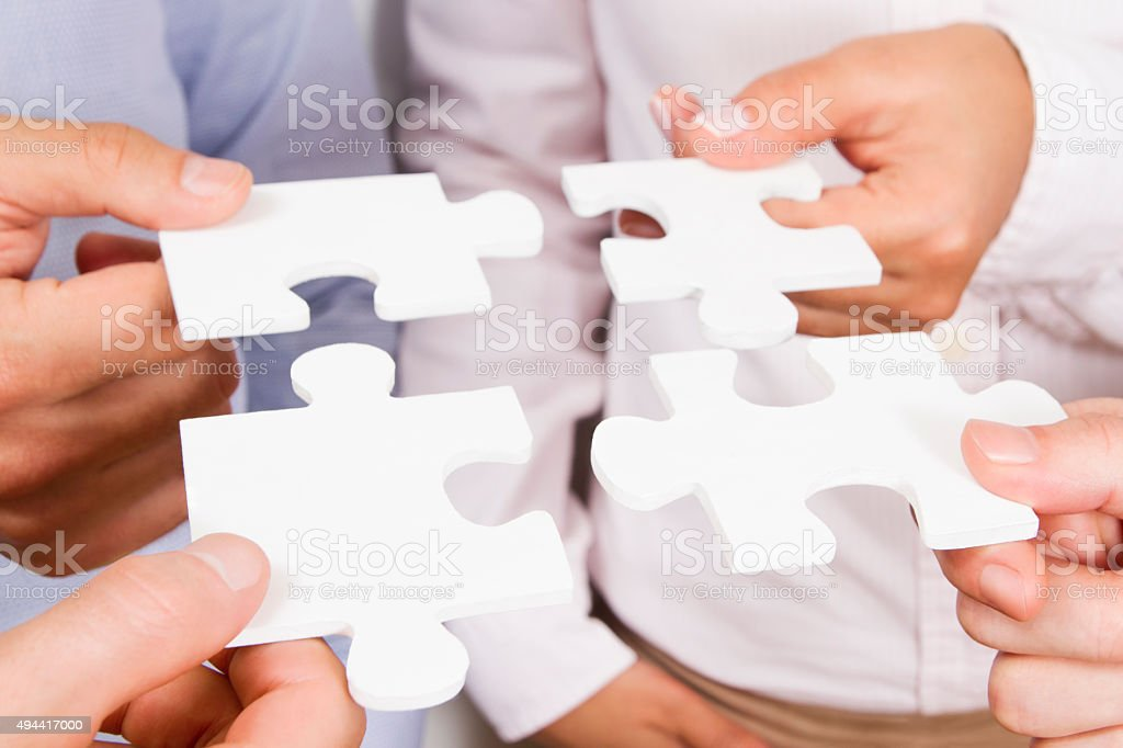 Solving Problems as a Team Concept stock photo