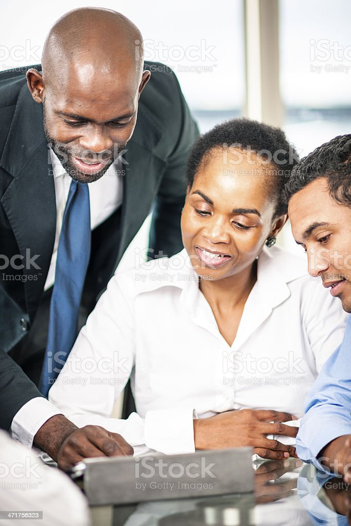 Solving problems together royalty-free stock photo