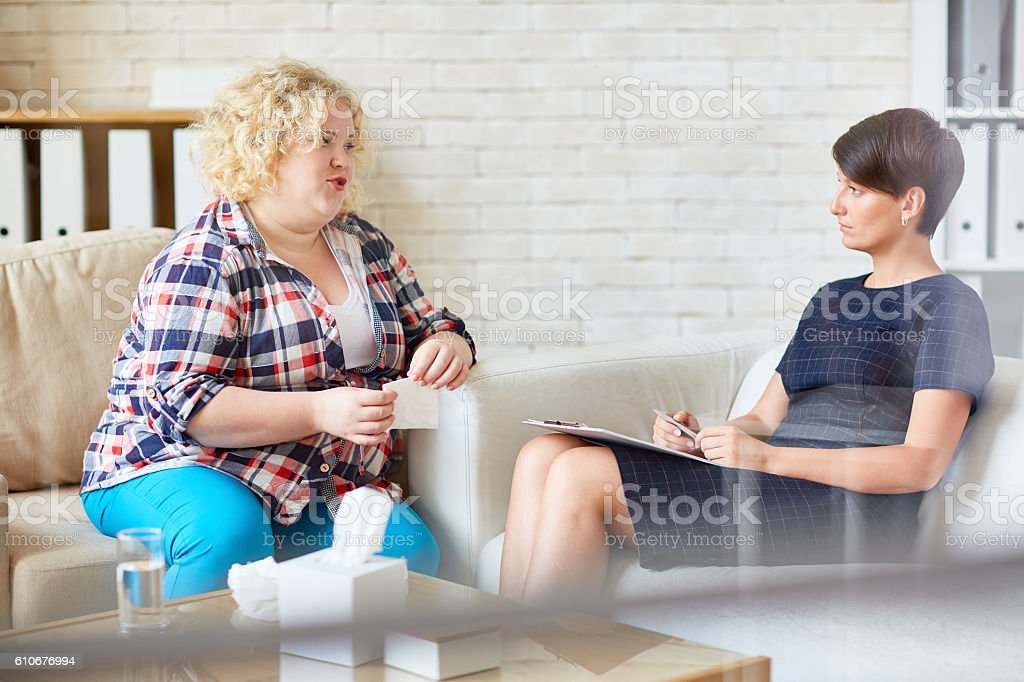 Solving psychological problems stock photo
