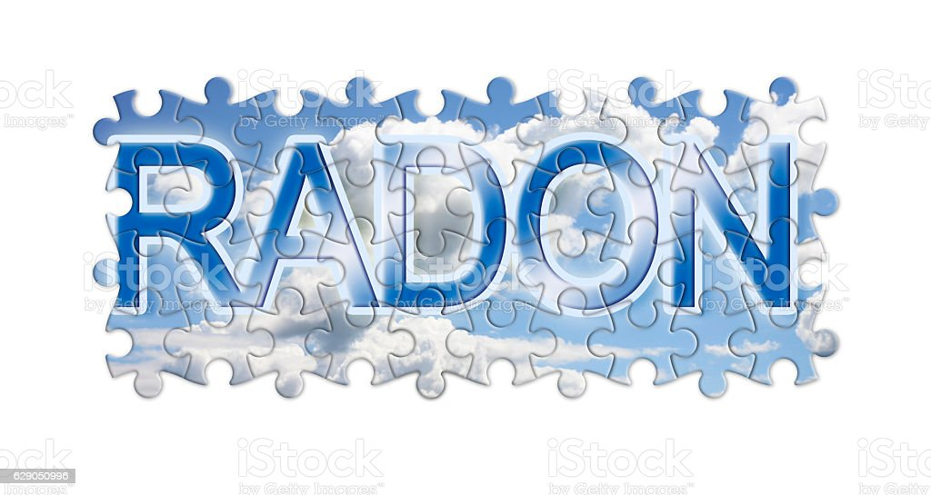Solving the gas radon - concept image stock photo