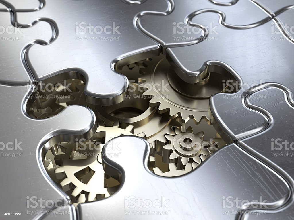 Solving the problem stock photo