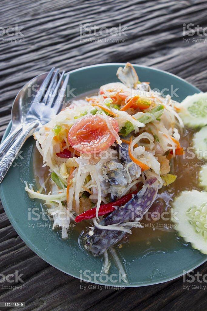 Som Tam Boo. royalty-free stock photo