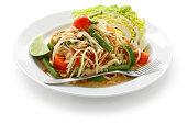 som tam, green papaya salad, thai cuisine