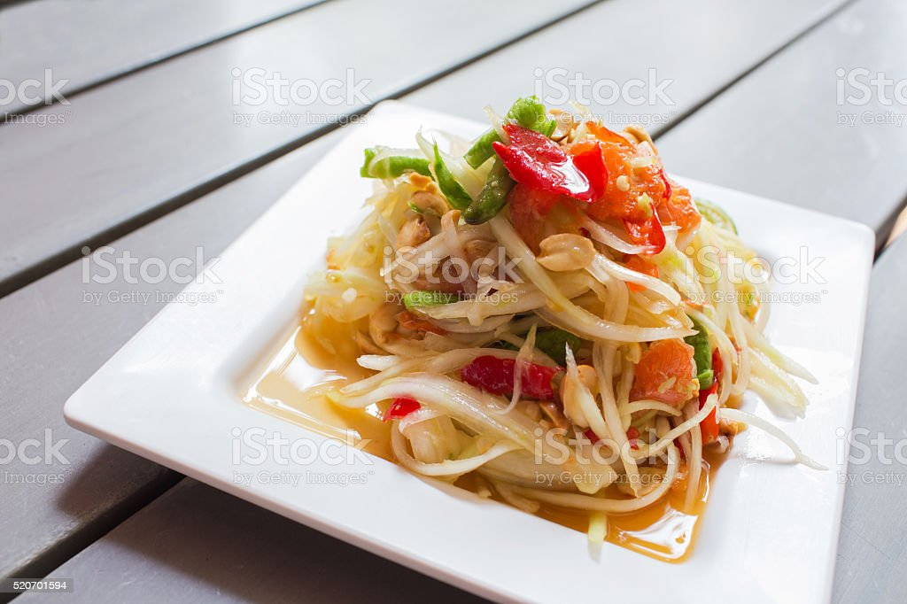 Som Tum, Papaya salad stock photo