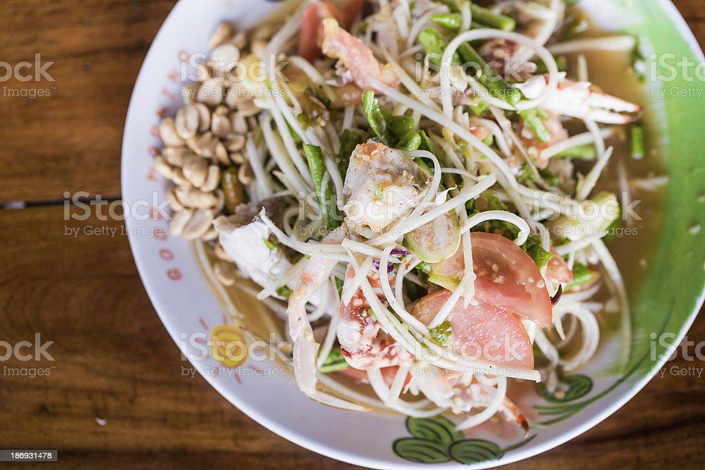 Som tum/ Papaya spicy salad royalty-free stock photo