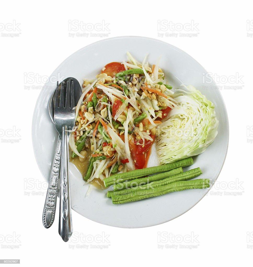 som tum salad 3 stock photo