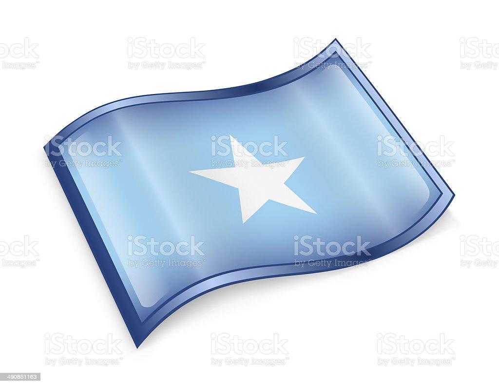 Somali flag icon. stock photo