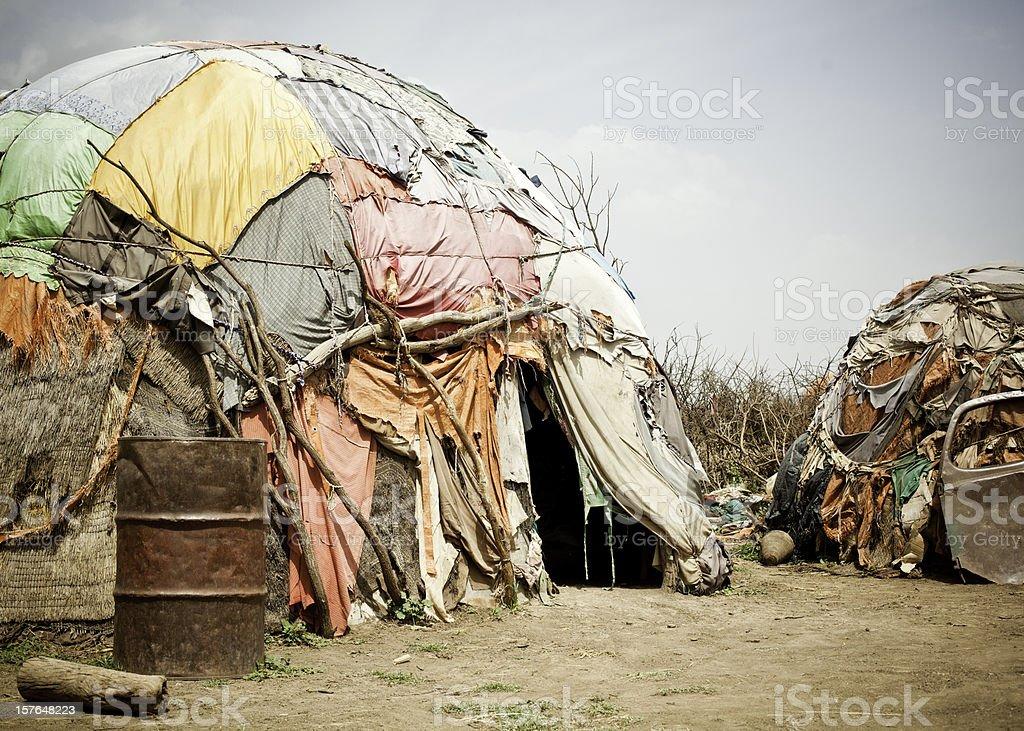 Somali Nomadic Hut stock photo