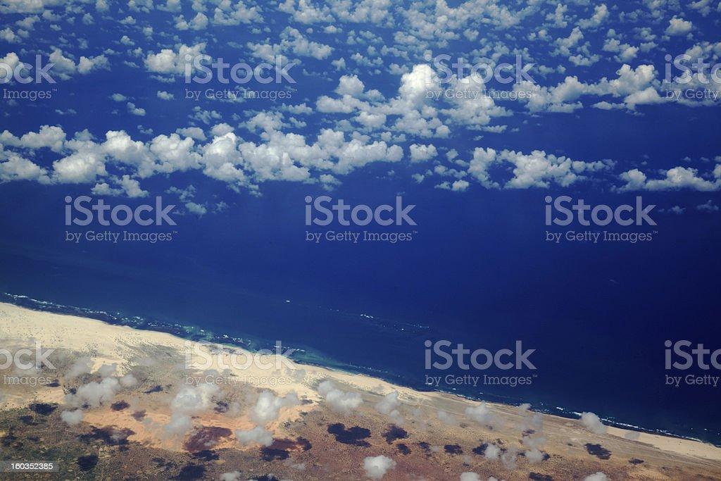 Somali Pirate Coast stock photo