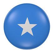 Somalia button on white background