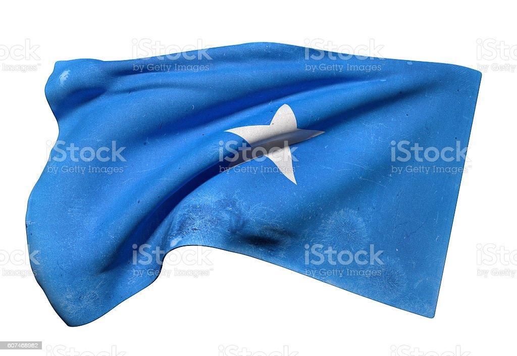 Somalia flag waving stock photo