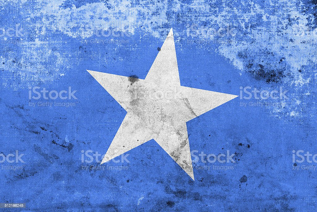 Somalia Flag with a vintage and old look stock photo