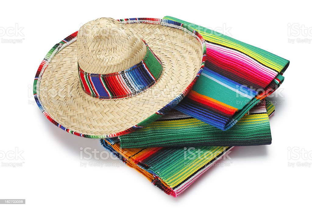 Sombrero and Blankets royalty-free stock photo