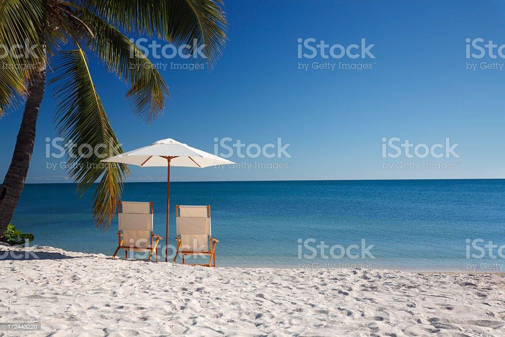 Sombrero beach stock photo