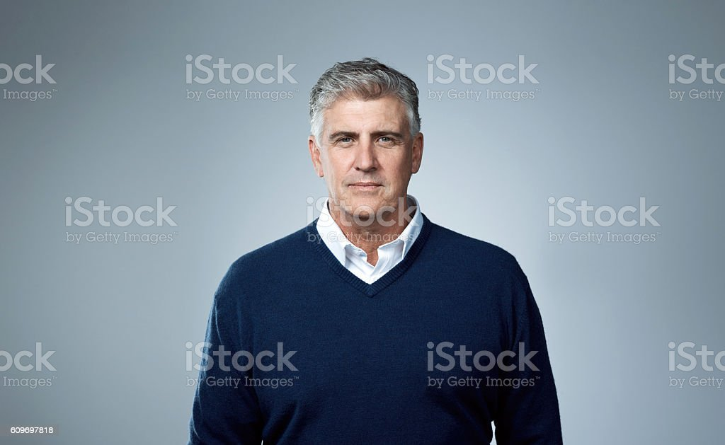 Some age. He matures stock photo