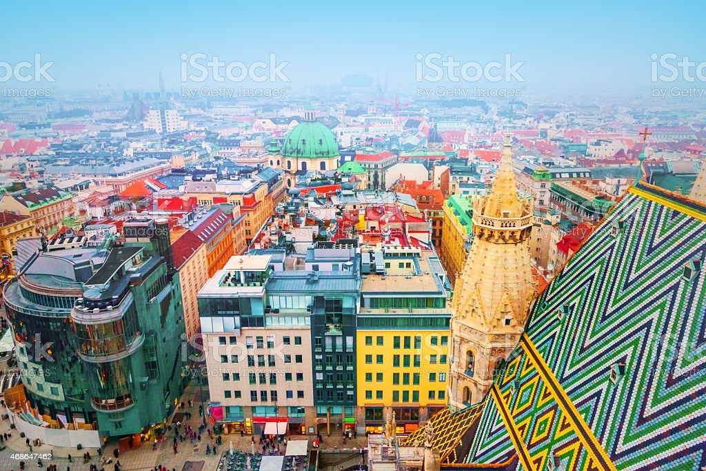 Some breathtaking and amazing architecture from Vienna  stock photo