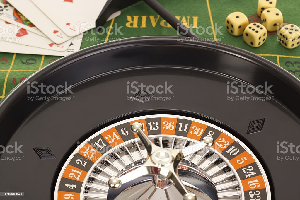 Some casino games royalty-free stock photo