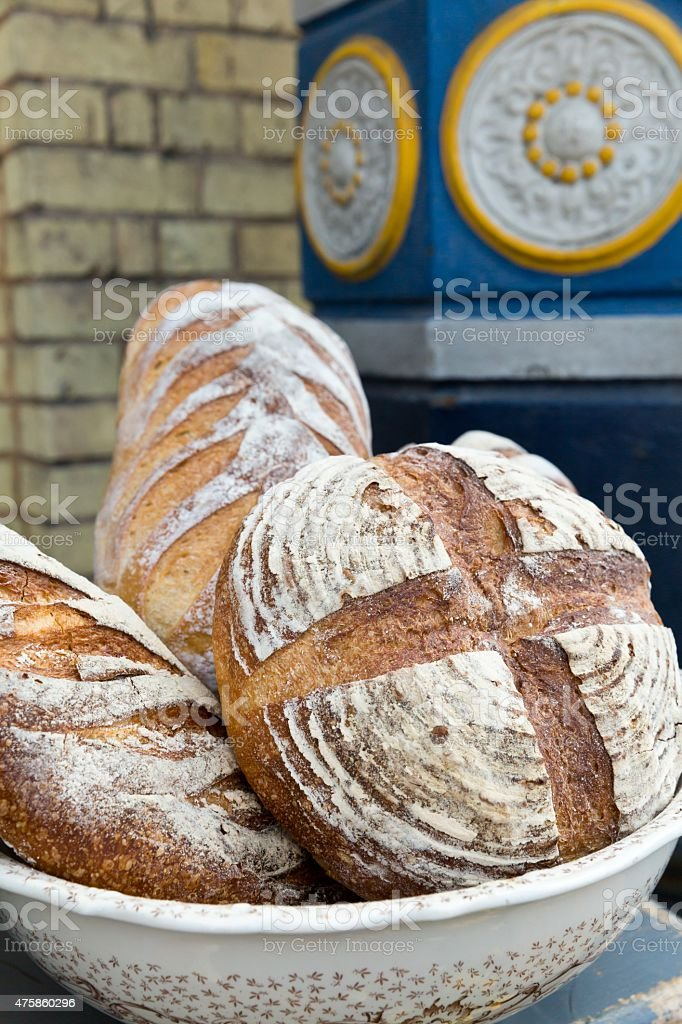 Some deliscious homemade bread display stock photo