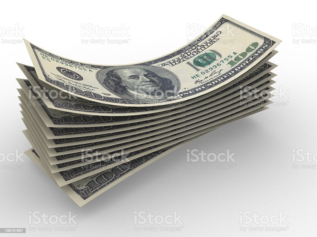 some dollars stock photo