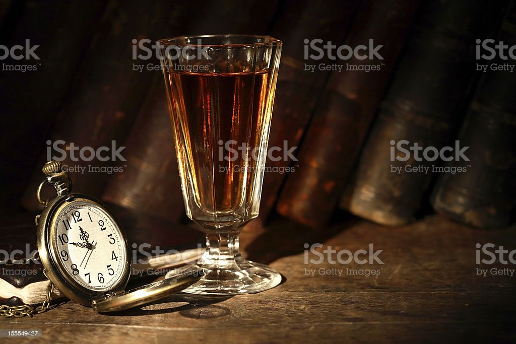 Some Drink For Good Night stock photo