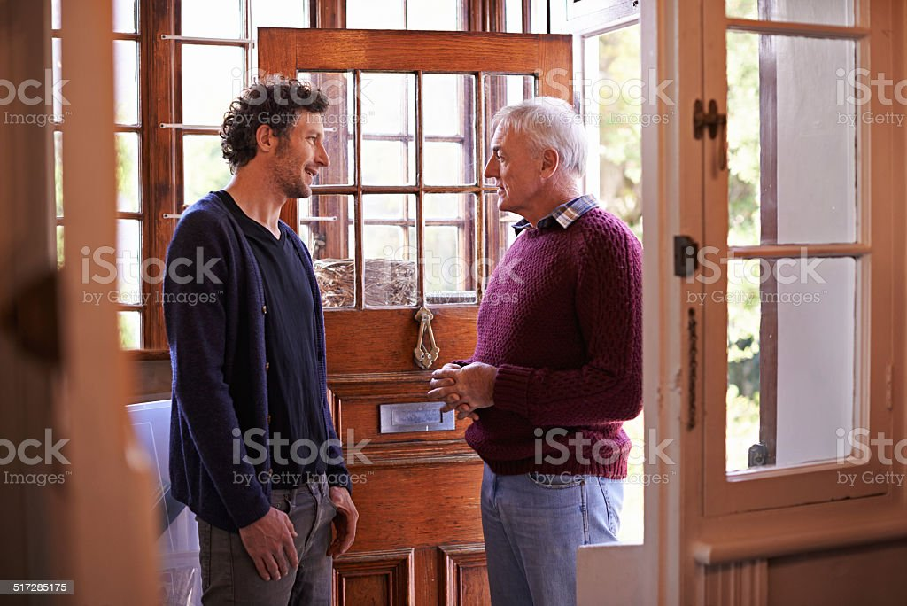 Some fatherly advise stock photo