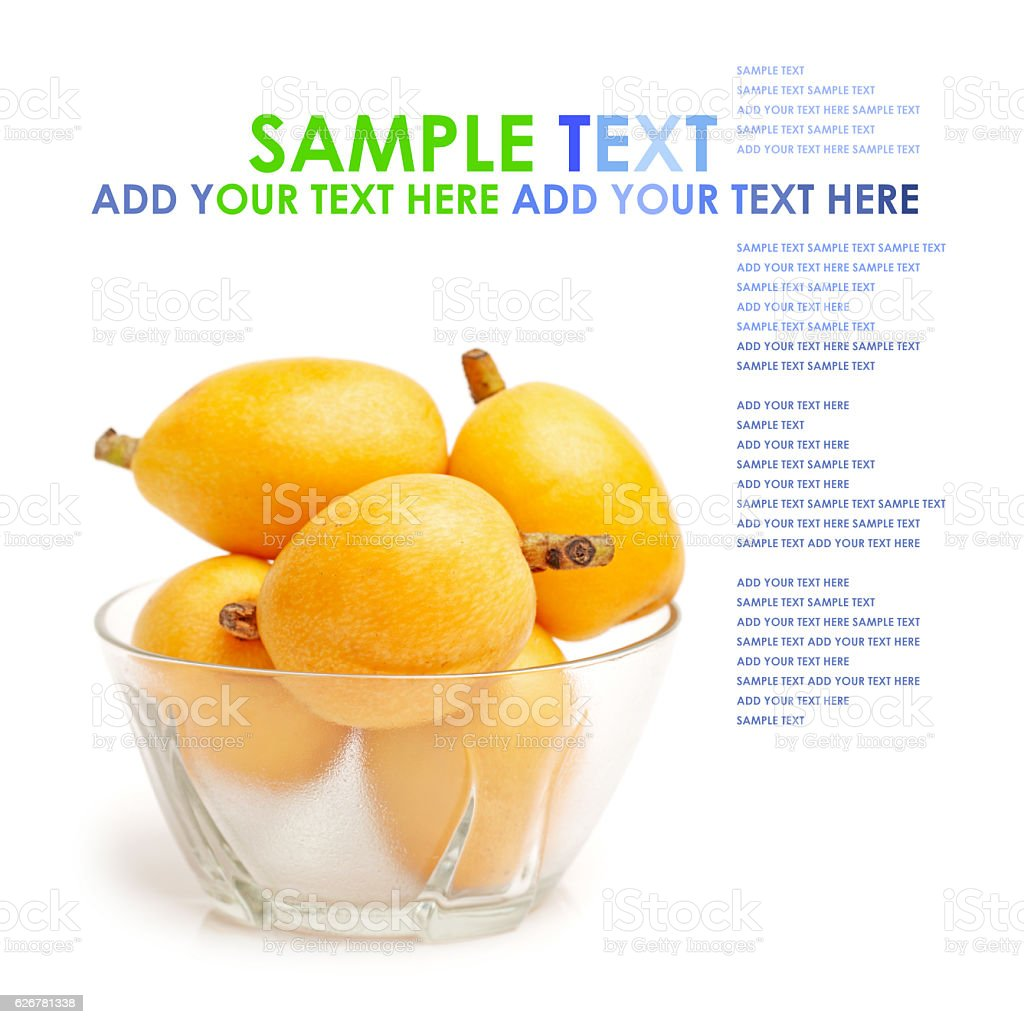 some loquat fruit stock photo