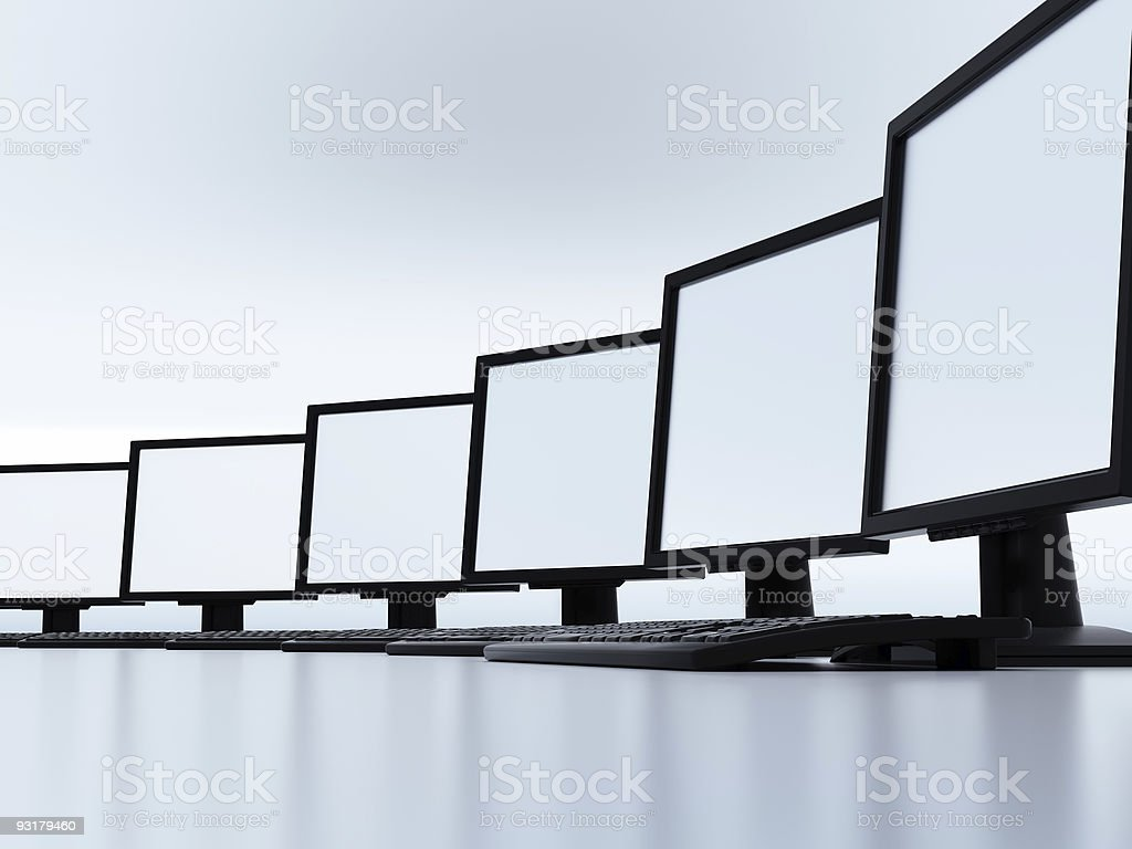Some modern computers royalty-free stock photo