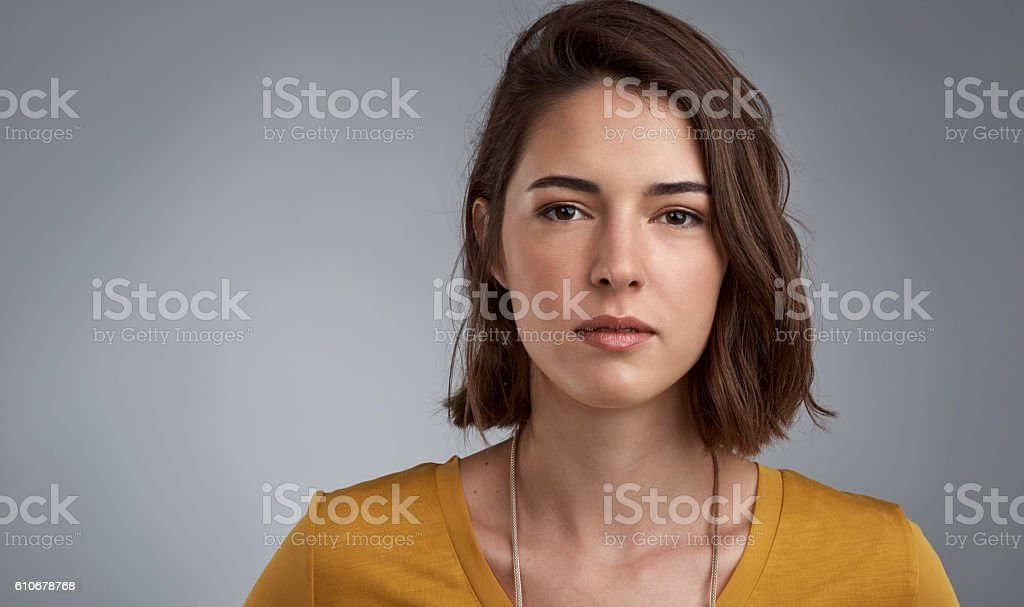 Some moments call for seriousness stock photo