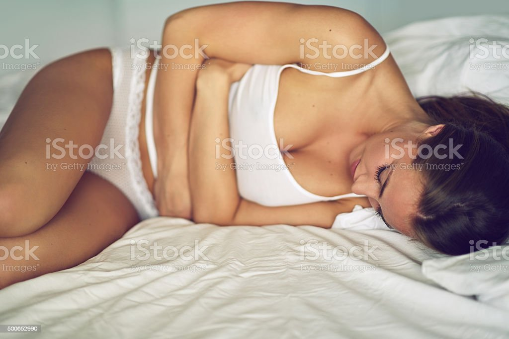 Some mornings are a struggle to get out of bed stock photo