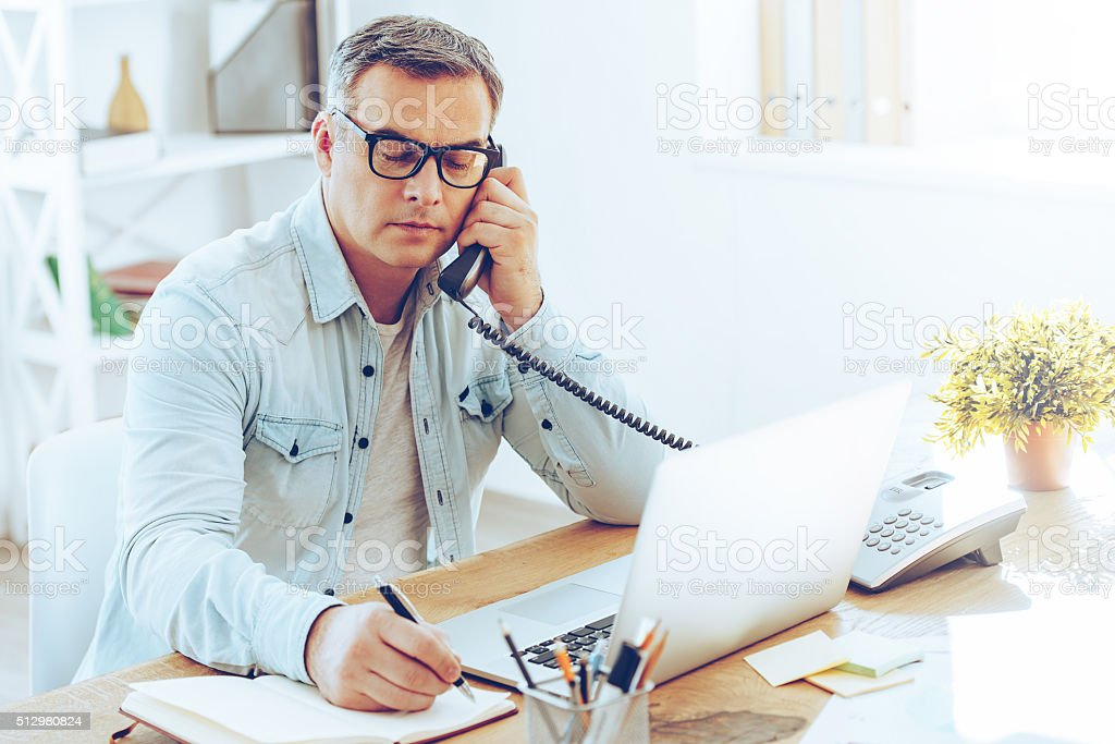 Some notes for the day. stock photo