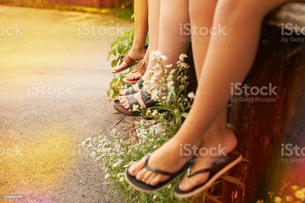 Some of the best memories are made in flip flops stock photo