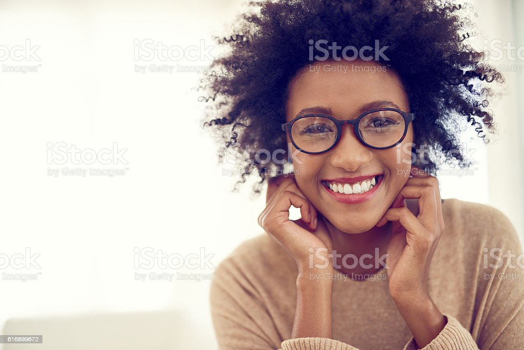 Some of the happiest times are spent at home stock photo