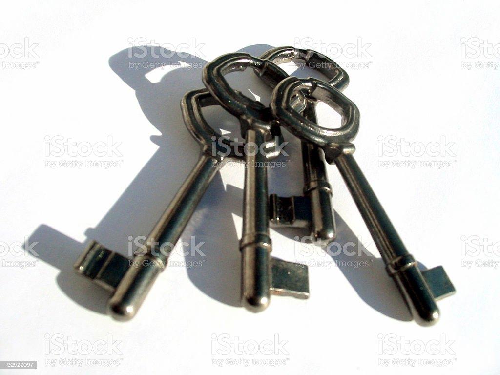 some old keys stock photo