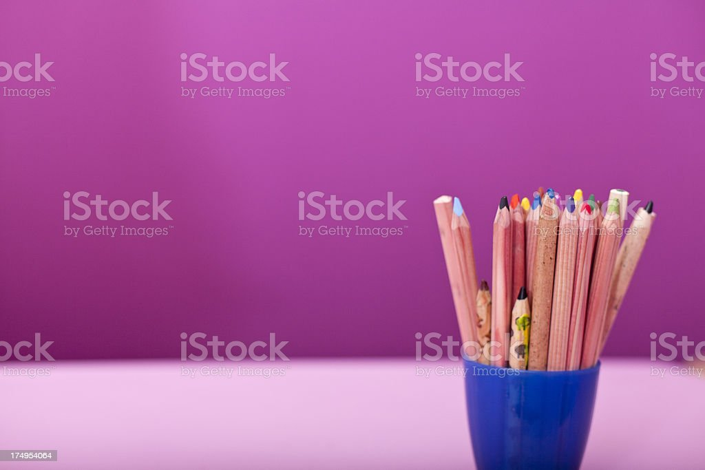 Some pencils in a childs room royalty-free stock photo