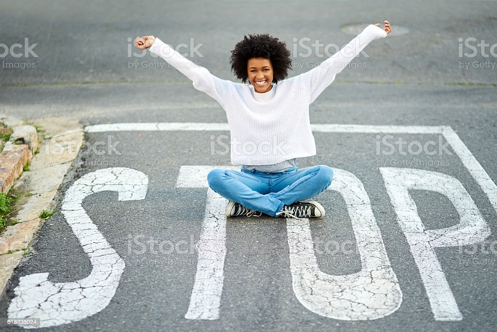 Some say the fearless are truly free stock photo