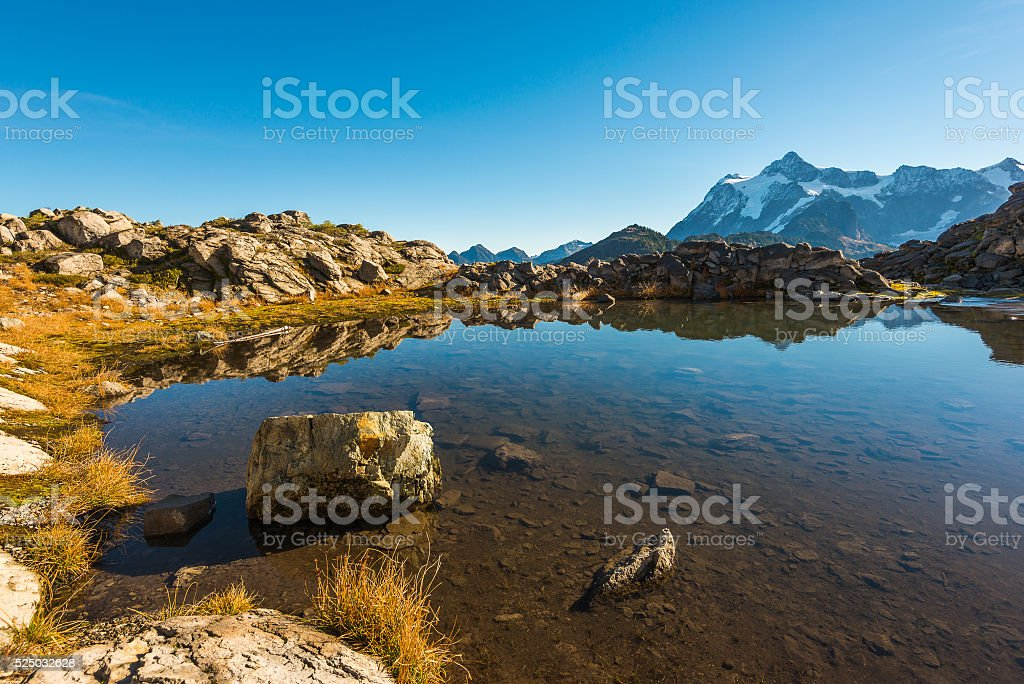 some scenic view of mt Shuksan in Artist point area stock photo