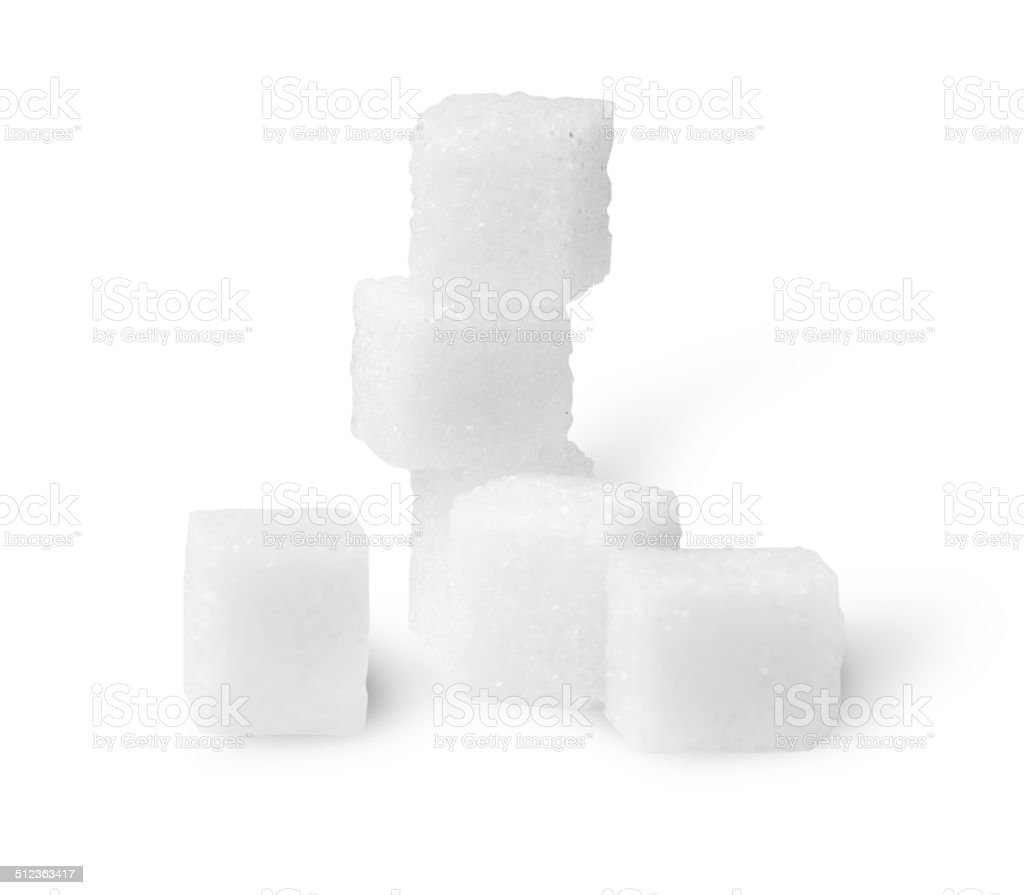 Some Sugar Cubes stock photo