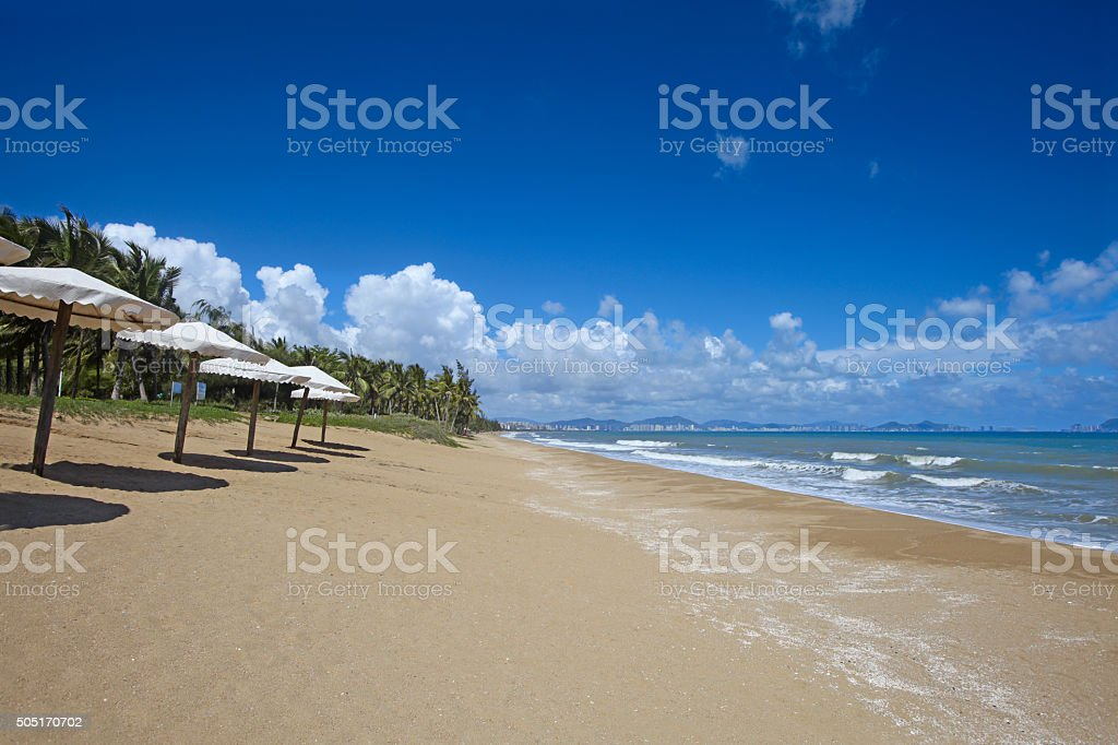 Some tents on beach stock photo