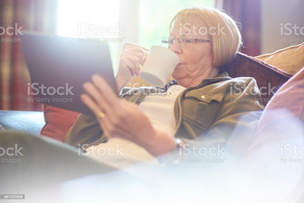some time to herself stock photo