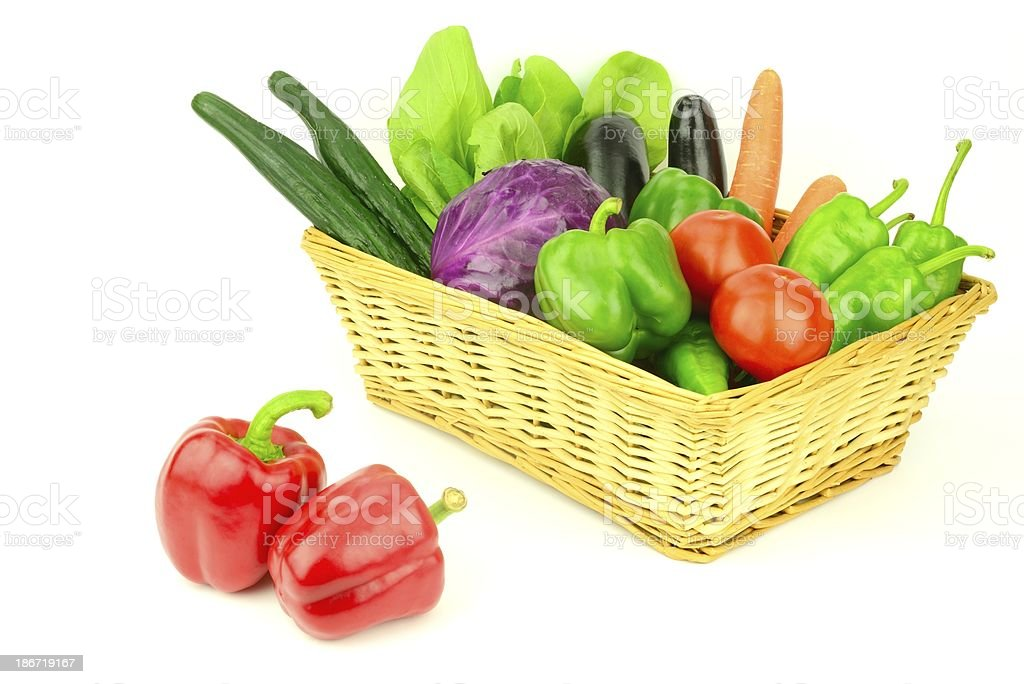 Some vegetables in the basket royalty-free stock photo