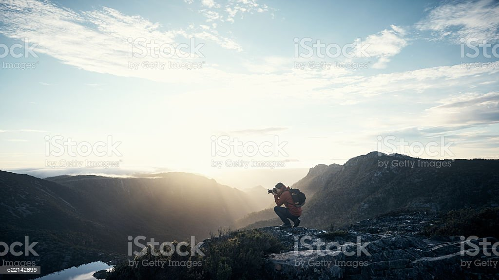 Some views are worth the effort stock photo