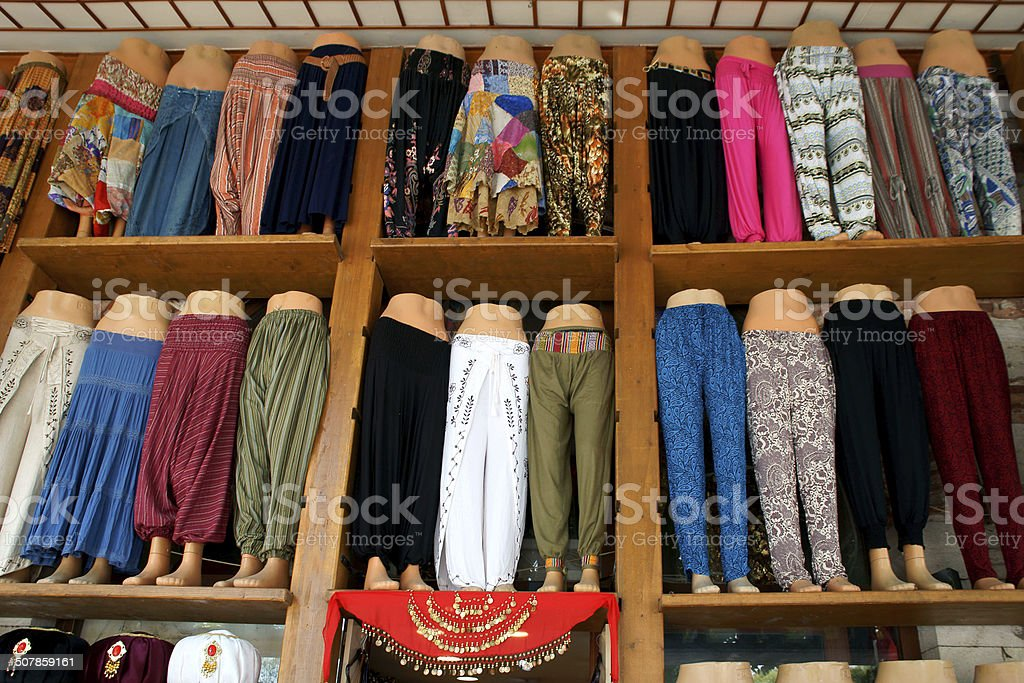 some wear on stall in tahtakale, istanbul royalty-free stock photo