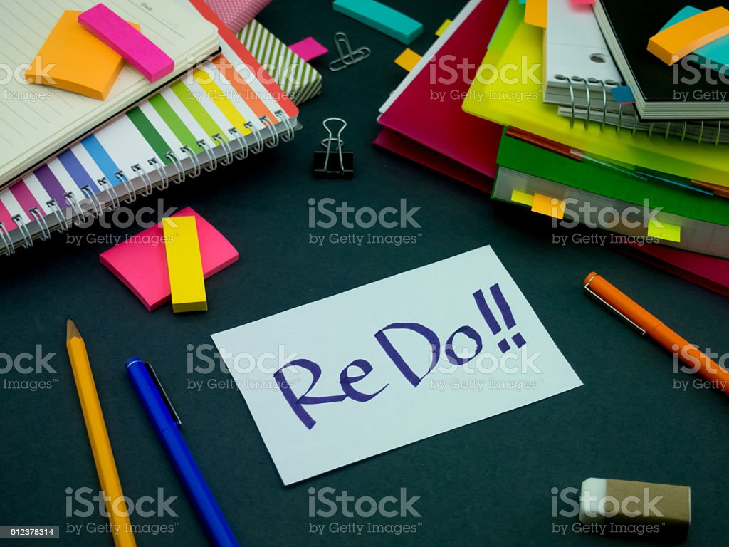 Somebody Left the Message on Your Working Desk; ReDo stock photo