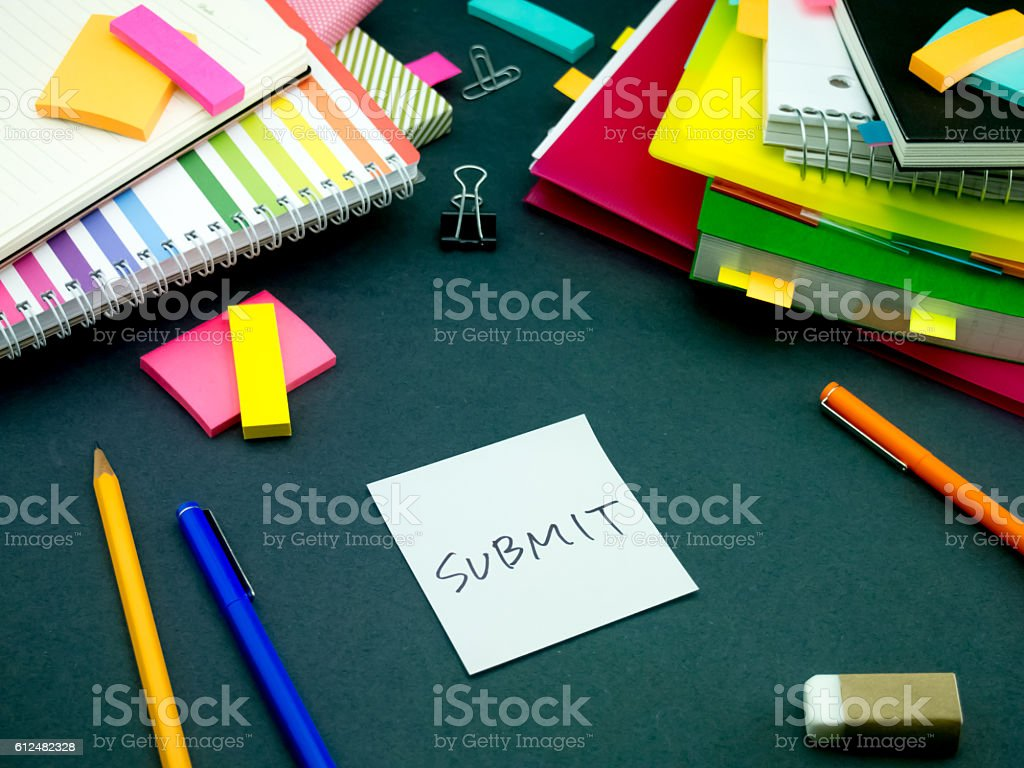 Somebody Left the Message on Your Working Desk; Submit stock photo