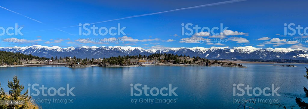 Somers Bay Montana stock photo