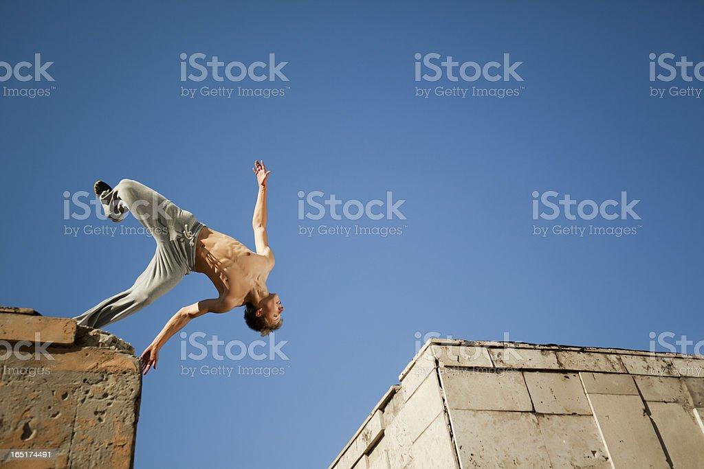 Somersault stock photo